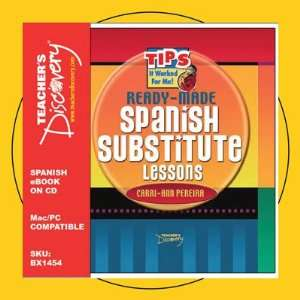 Ready Made Spanish Substitute Lessons Book on CD Teacher
