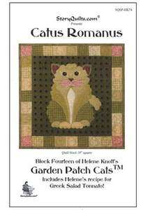 CATUS ROMANUS BLK #14 OF GARDEN PATCH CATS BY HELENE KNOFF