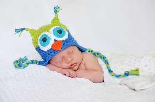 New Cute Owls Newborn Baby Child Girls Boys Knit Hat Cap Photograph