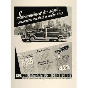 1936 Ad General Motors Trucks GMC 1/2 Ton Delivery Van