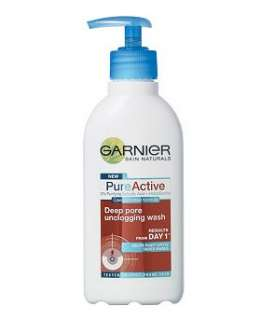 Garnier Pure Active Deep Pore Unclogging Wash 200ml   Boots