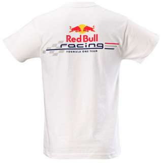 AUTHENTIC RED BULL RACING FORMULA ONE TEAM 2011 MENS WHITE GRAPHIC T