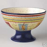 Pfaltzgraff SEDONA Pedestal Centerpiece Party Bowl NEW