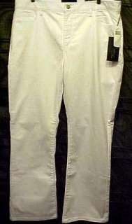 NWT $108 NYDJ 18W #3000 Boot Cut White Not Your Daughters Jeans