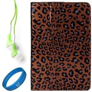 Brown Leopard Executive Leather Case Cover for Samsung