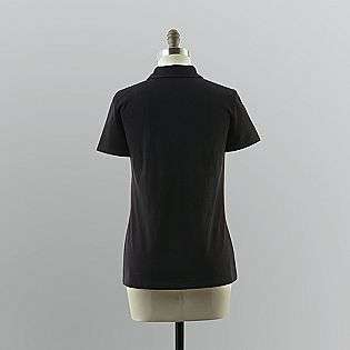 Womens Split Neck Polo Shirt  Basic Editions Clothing Womens Tops