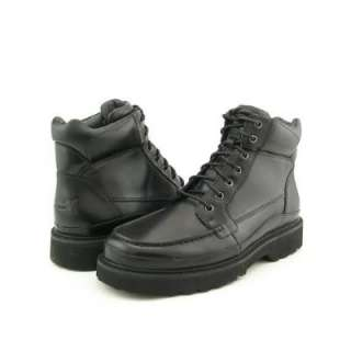 MENS ROCKPORT SIERRA POINT LEATHER BOOTS BLACK SIZE