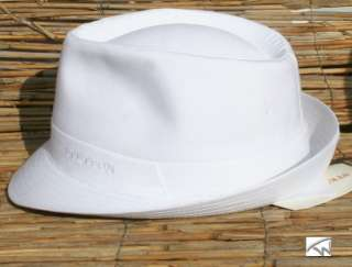 STETSON Teton Baumwoll Hut weiss Trilby Hüte Neu S XXL