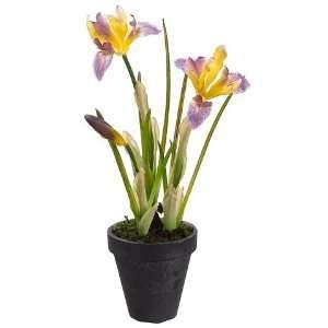 Silk Flower Arrangement  Yellow/Purple (case of 2) Home & Kitchen