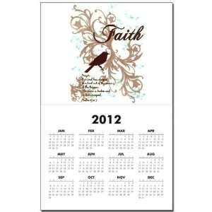 Calendar Print w Current Year Faith Dove   Christian Cross