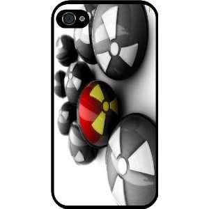 Radioactive Balls Design Rubber Black iphone Case (with bumper