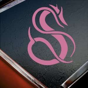 Tribal Dragon Pink Decal Car Truck Bumper Window Pink Sticker Arts