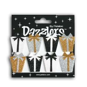 White, Silver & Gold Gift Box Birthday Dazzlers Arts, Crafts & Sewing