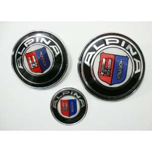 High Quality Bmw ALPINA 82mm + 74mm + 45mm Hood Trunk Steering Emblem
