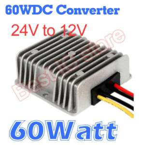 DC DC Converter 24V Step down to 12V 5A   60W Regulator