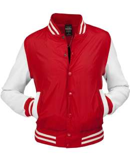 URBAN CLASSICS LADY LIGHT COLLEGE JACKE ROT/WEISS M