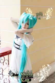 Vocaloid Hatsune Miku Cosplay WIG + 2 Ponytails 120cm light blue
