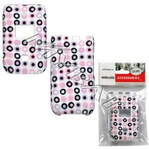Circle Dots Purple Pink Black White Case Cover Snap On Protective for