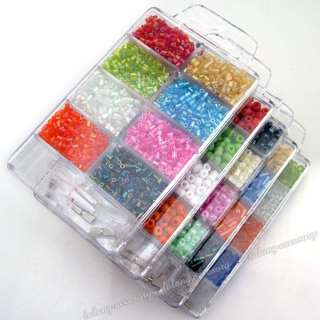 Free Ship 5 Box Mixed Colorful Glass Seed Beads 110242