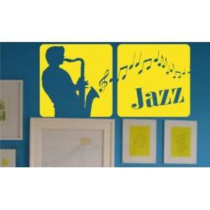 Jazz Panels Wall Decal Sticker Art Graphic Music Musician