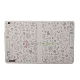 Cute Little Witch Leather Smart Case Cover Stand for iPad 2 Grey