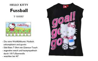 Hello Kitty Fussball T Shirt Top 116 128 140 152 164