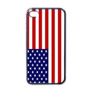 United States Flag Black Iphone 4   Iphone 4s Case Office