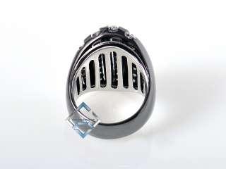 Damiani 18K Black Gold and Micro Pave Diamond Ring SAVE