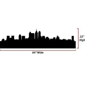 Skyline Silhouette  X Large  Vinyl Wall Decal Everything Else