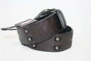 Levis Mens Rivet Bridle Black Genuine Leather Belt 11LV02V8 S M L XL