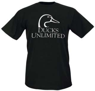 Ducks Unlimited Logo T Shirt Black / Military NWT
