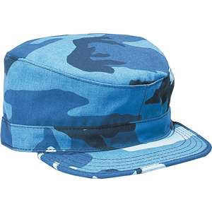 SKY BLUE CAMOUFLAGE Army Patrol Field BDU Fatigue CAP