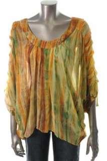 KAS New York NEW Printed Silk Blouse Sale Top M