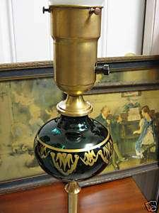 VINTAGE EMERALD GREEN ART GLASS FLOOR LAMP EUROPEAN ?
