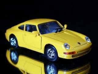 Porsche 911   HOT WHEELS   Diecast 118 Scale Yellow