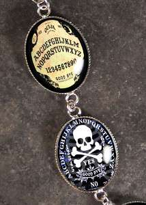 Ouija Board Occult Halloween Silver Charm Bracelet BR01