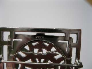 Vintage Art Deco Sterling Silver & Marcasite Pin / Brooch