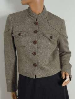 MICHAEL Michael Kors Tan Brown Gold Jacket Blazer Sz 10