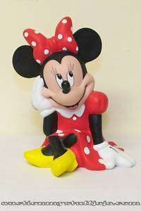 Disney Minnie Mouse Piggy Bank In Red Dot Dress