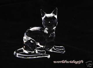 Blown Glass Art Animal Figurine Crystal SIAMESE CAT