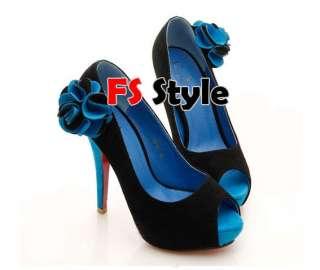 Women Sexy Flower High Heel Open toe Sandals Shoes 1iF