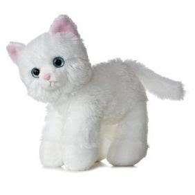 MINI 8 CUTE PLUSH KITTEN CAT WHITE STUFFED ANIMAL NEW
