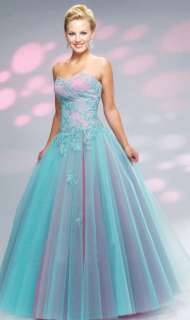 New Stock Blue&Pink Formal/Evening Dress Prom Ball Gown Size6/8/10/12
