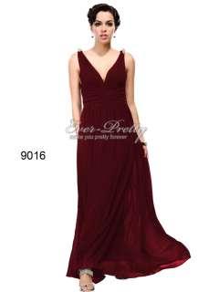 Gorgeous Double V neck Diamante Long Empire Waist Formal Evening Gowns