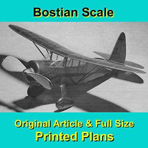 OLD HOWARD DGA 15 MODEL AIRPLANE PLANS INCLDING BUILDING NOTES