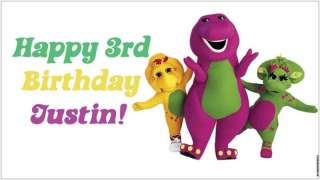 Custom Barney & (and) Friends Birthday Party Banner