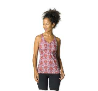 PRANA SABIN RACER TOP WOMEN Burnt Orange Paisley SM NEW