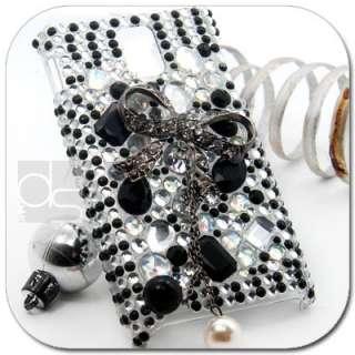 Black Bow BLING Hard Skin Case HTC T mobile My Touch Tmobile Mytouch