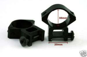 Pair of 30mm High Profile Scope Ring Mount 30 20H