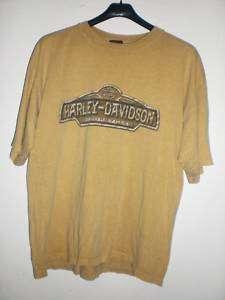 HARLEY DAVIDSON Biker LOGO Khaki Avon Ohio Shirt XL HTF